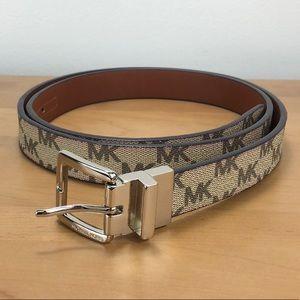 Michael Kors 💘 Brown Reversible MK Logo Belt